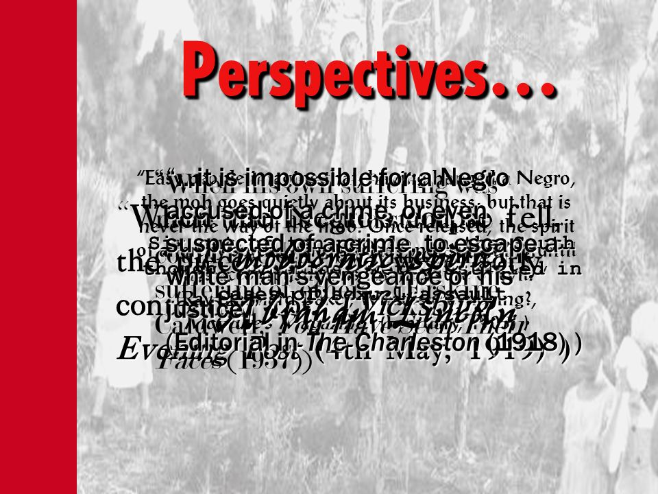 Perspectives… mobocratic spirit Abraham Lincoln