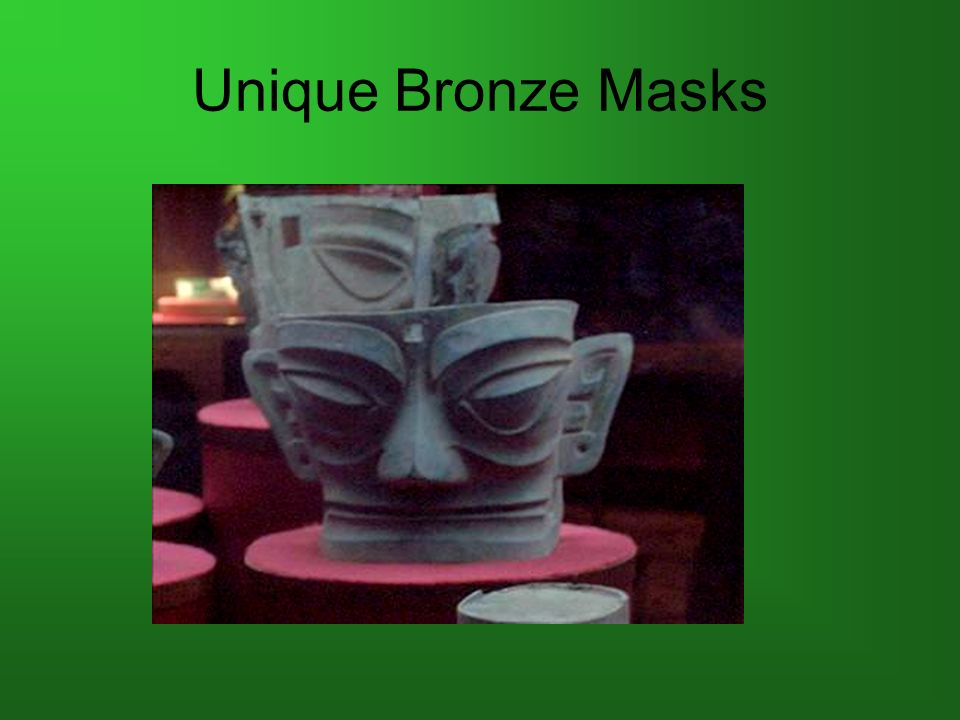 Unique Bronze Masks