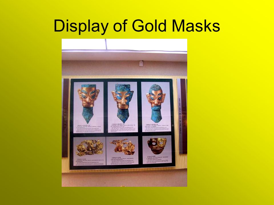 Display of Gold Masks