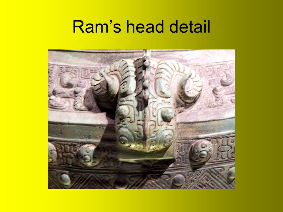 Ram's head detail