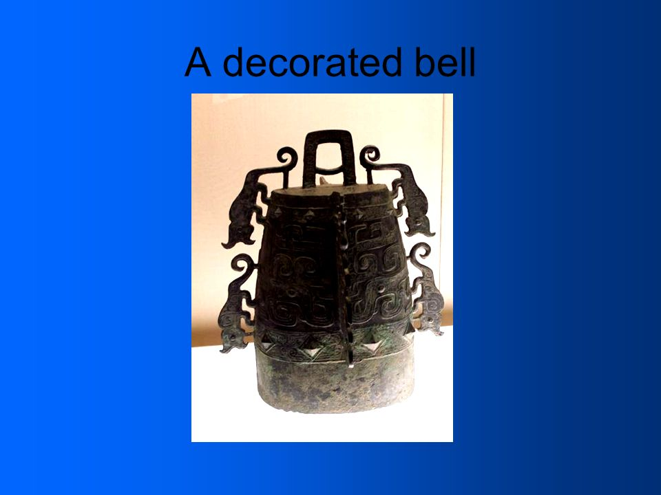 A decorated bell