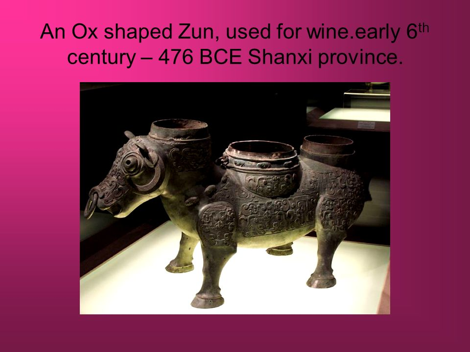 An Ox shaped Zun, used for wine