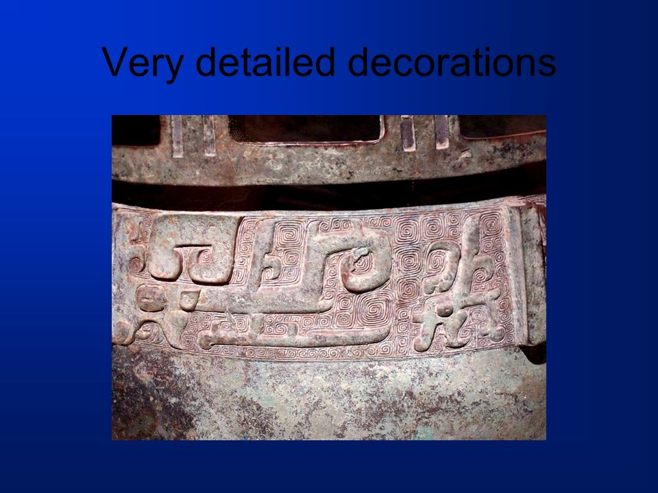 Very detailed decorations