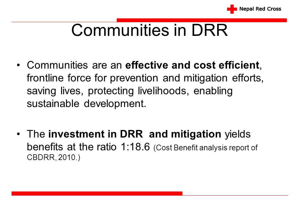 Communities in DRR