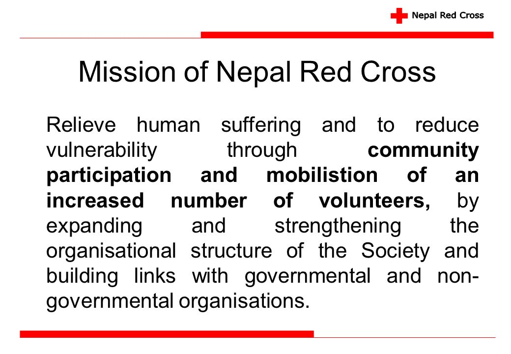 Mission of Nepal Red Cross