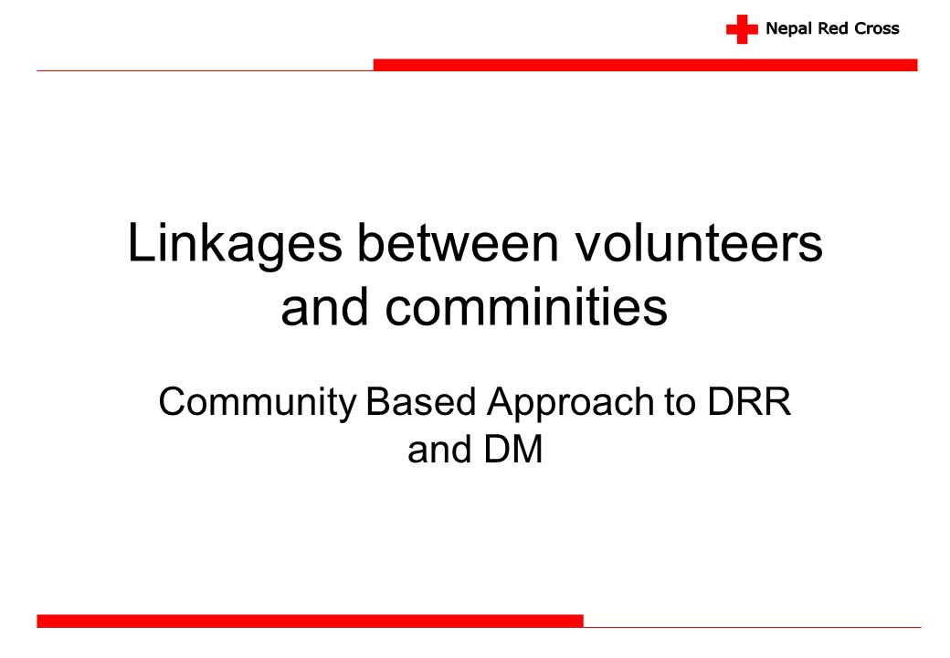 Linkages between volunteers and comminities