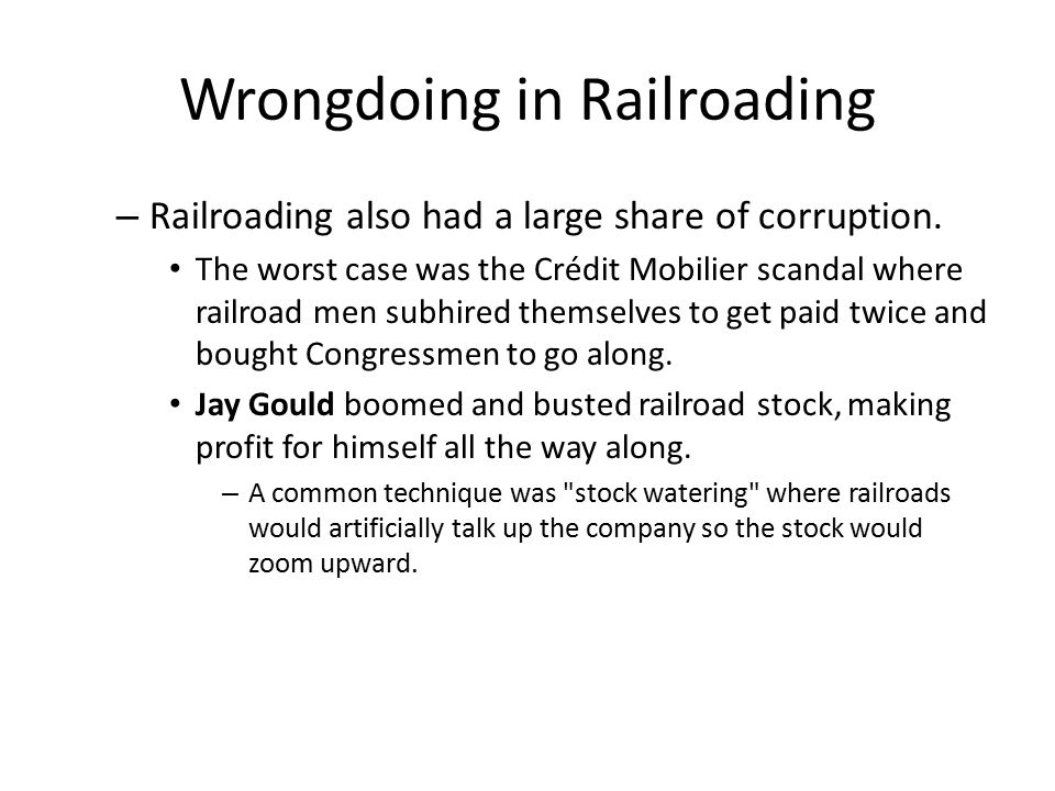 Wrongdoing in Railroading