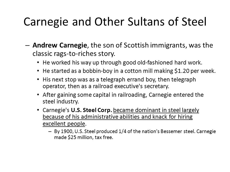 Carnegie and Other Sultans of Steel