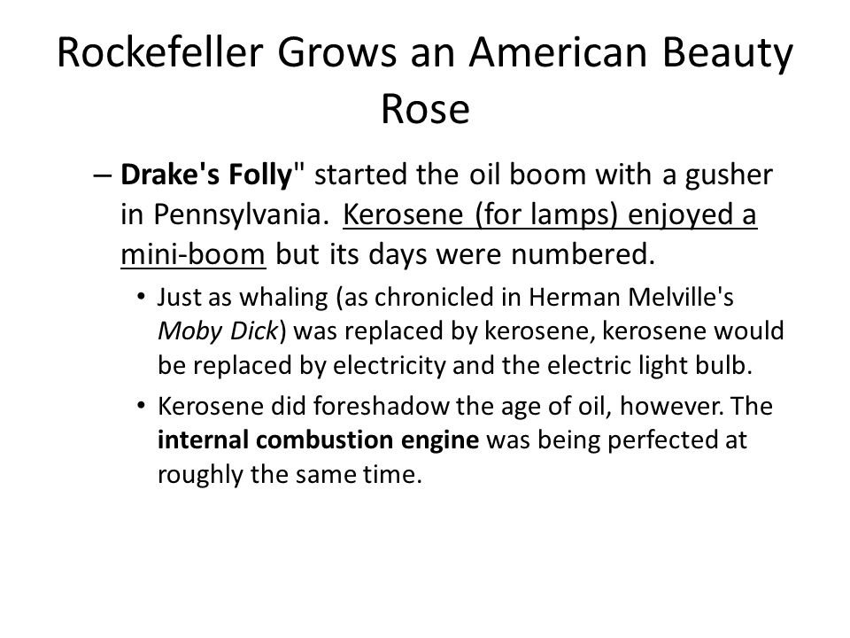 Rockefeller Grows an American Beauty Rose