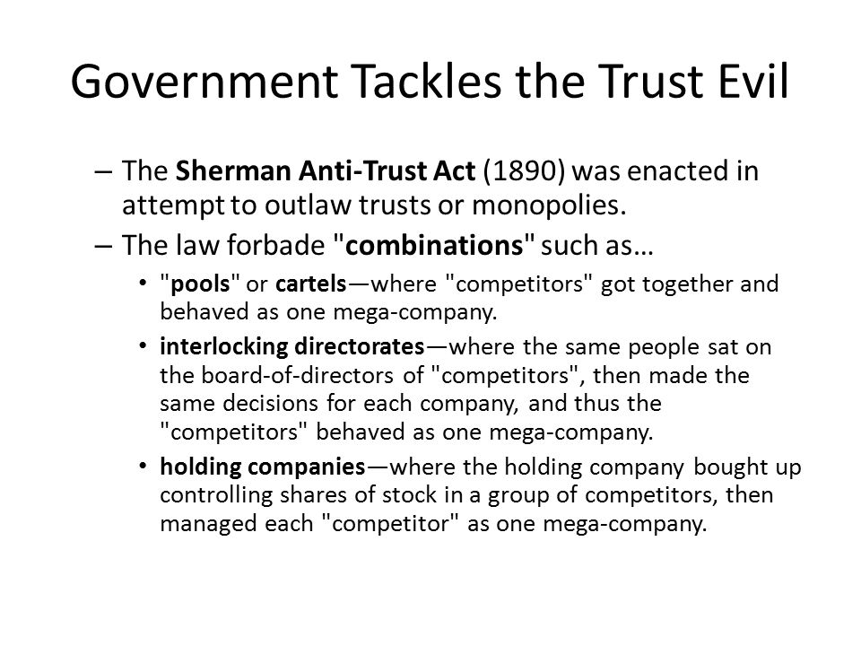 Government Tackles the Trust Evil