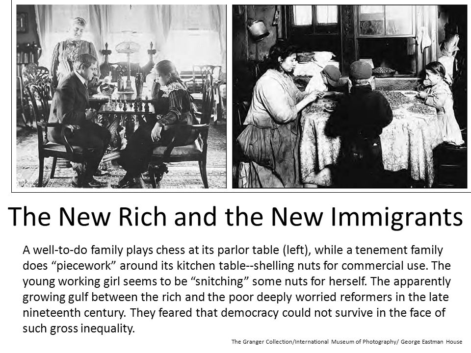 The New Rich and the New Immigrants