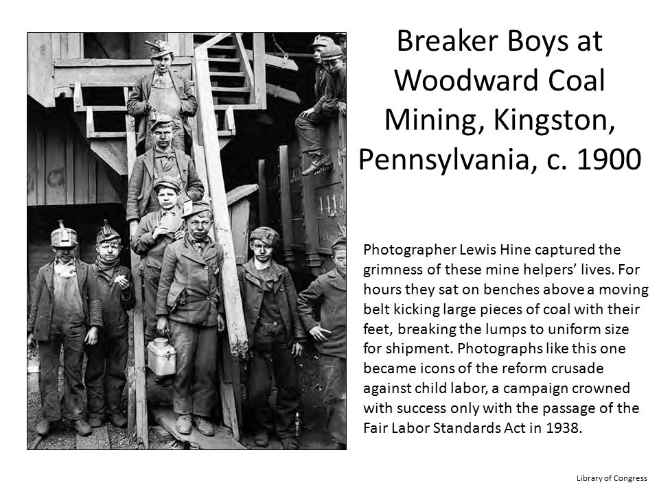 Breaker Boys at Woodward Coal Mining, Kingston, Pennsylvania, c. 1900