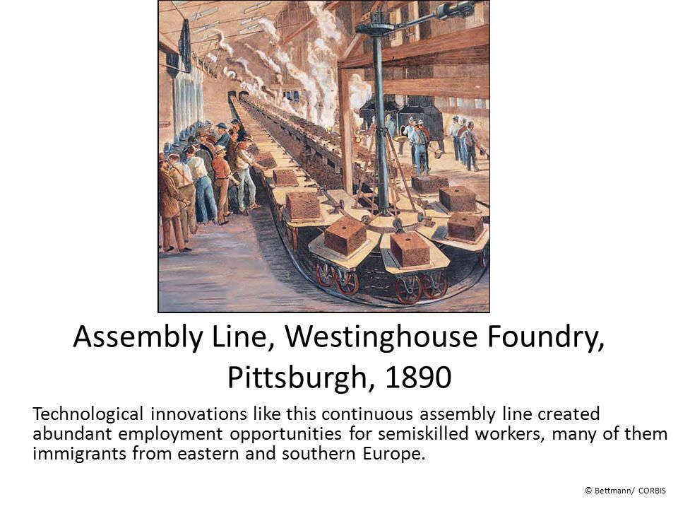Assembly Line, Westinghouse Foundry, Pittsburgh, 1890