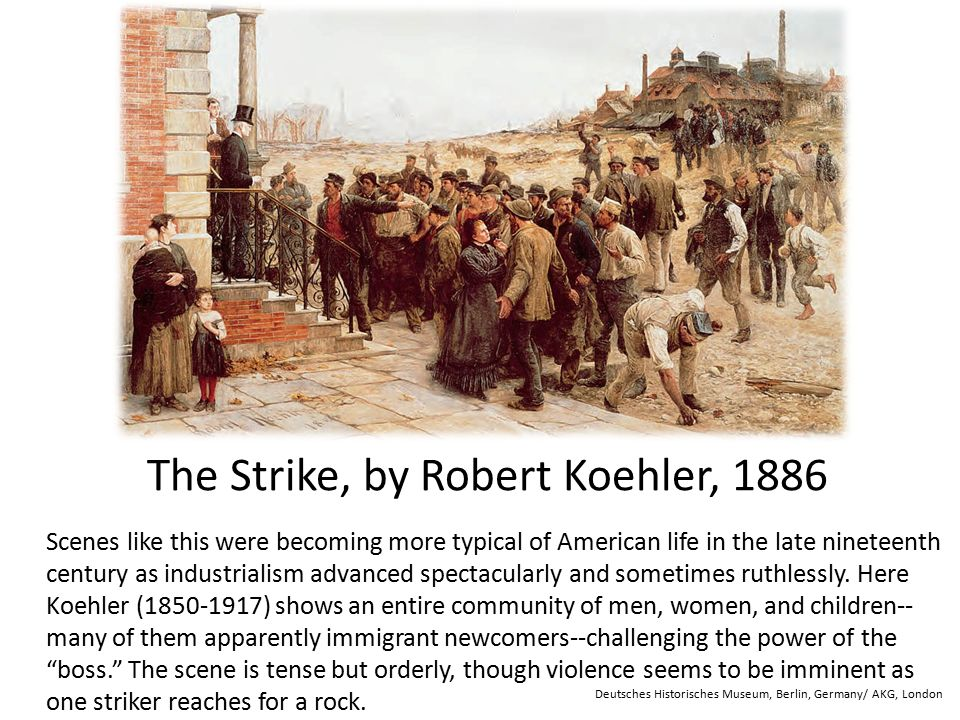 The Strike, by Robert Koehler, 1886