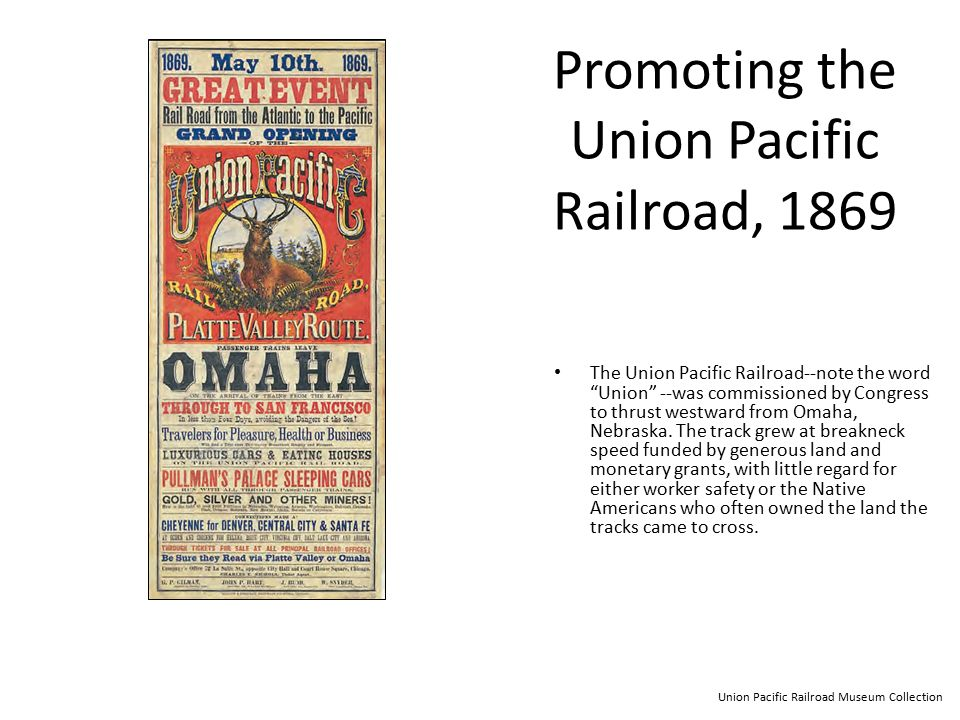 Promoting the Union Pacific Railroad, 1869
