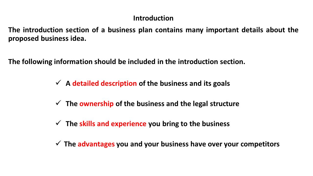 introduction business plan essay Introduction any company whether starting a new business or expanding an existing firm within an established organization- all requires a business plan so that it can meet the expected and unexpected opportunities, the obstacles which the future holds and also the most important to raise funds so that it can navigate successfully through its.