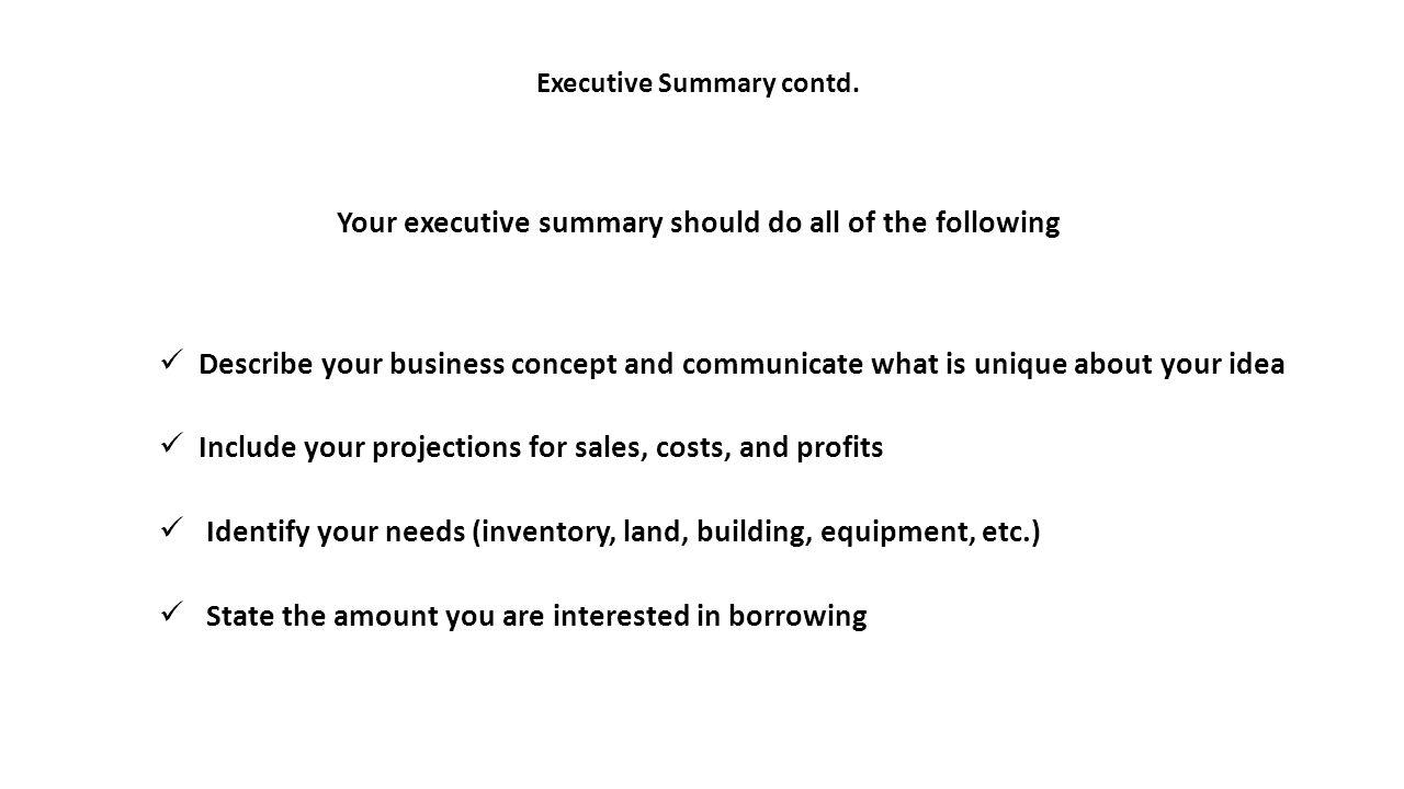 Executive Summary of the Business Plan - thebalancesmb.com
