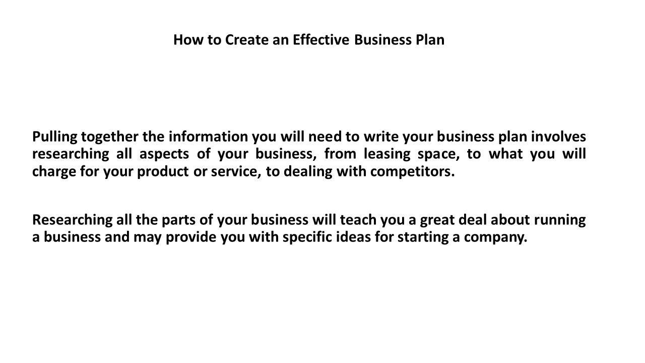 How to pitch your business plan