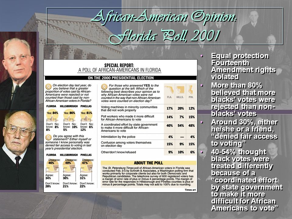 African-American Opinion: Florida Poll, 2001