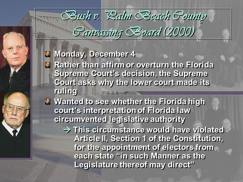 Bush v. Palm Beach County Canvassing Board (2000)