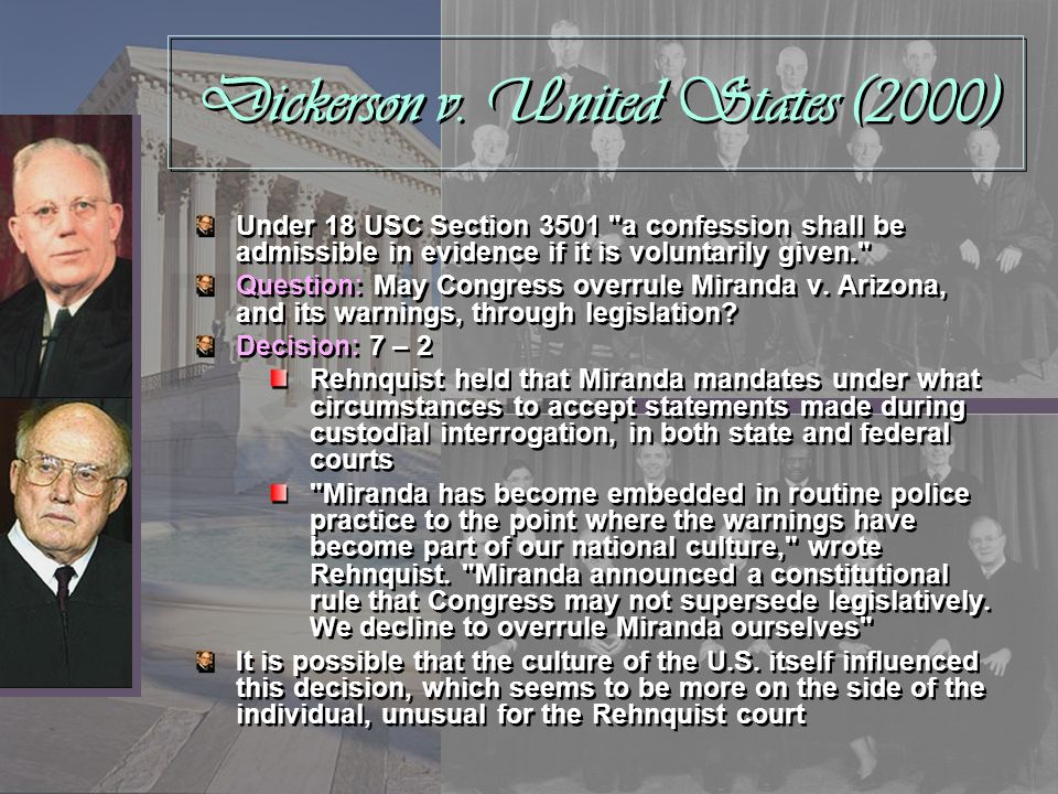 Dickerson v. United States (2000)