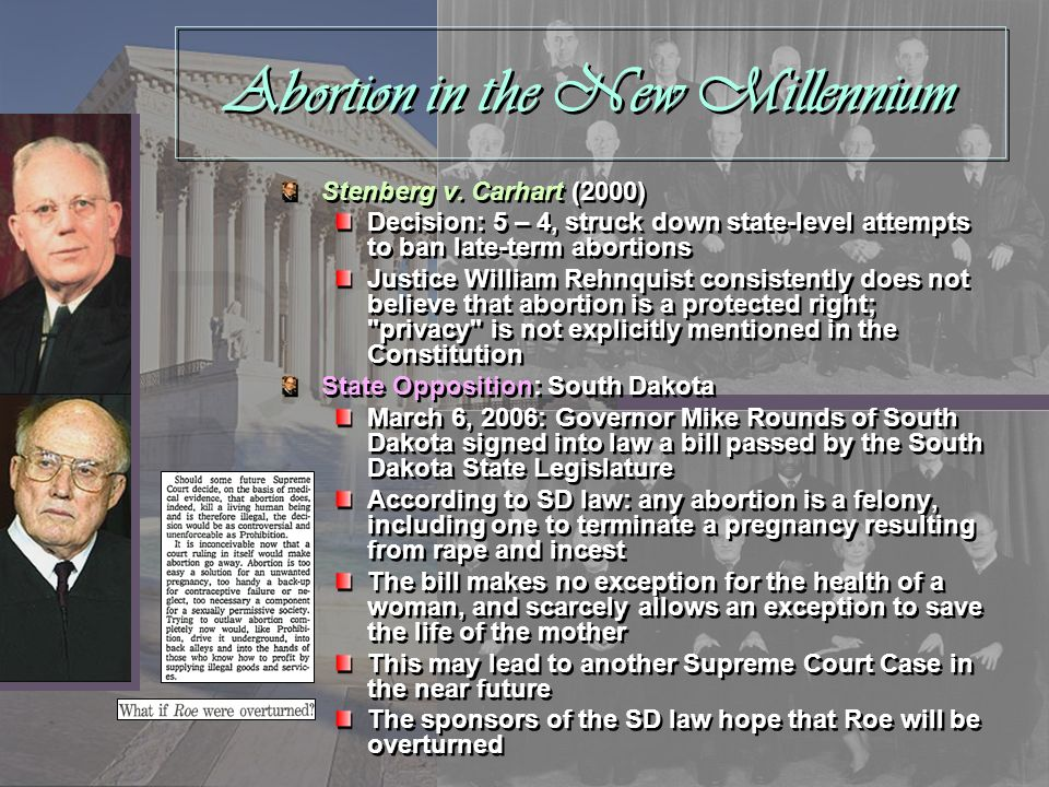Abortion in the New Millennium