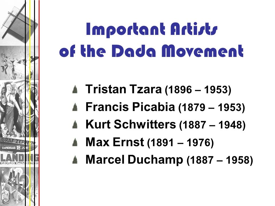 Important Artists of the Dada Movement