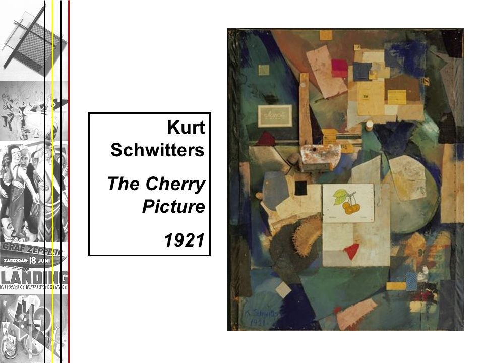 Kurt Schwitters The Cherry Picture 1921