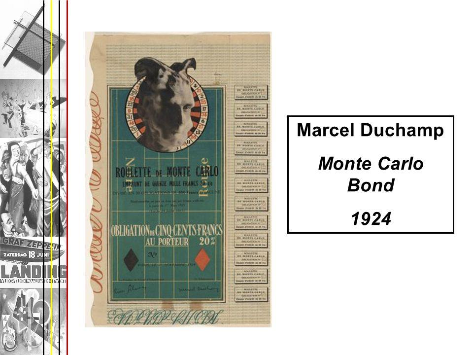 Marcel Duchamp Monte Carlo Bond 1924