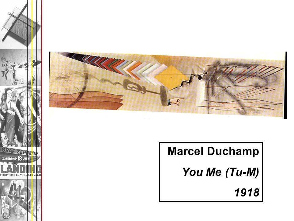 Marcel Duchamp You Me (Tu-M) 1918