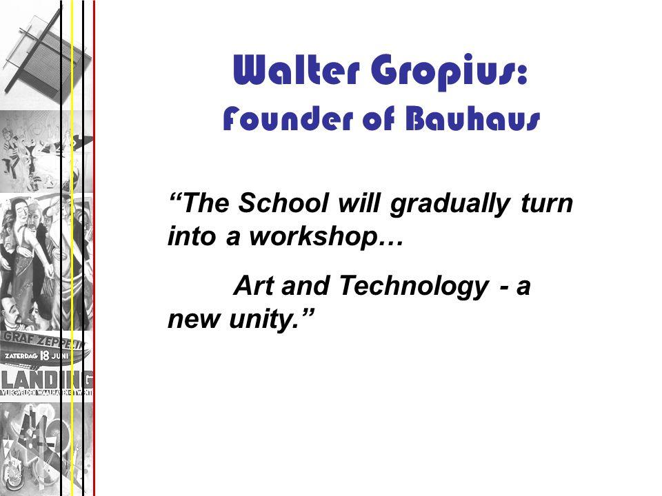 Walter Gropius: Founder of Bauhaus