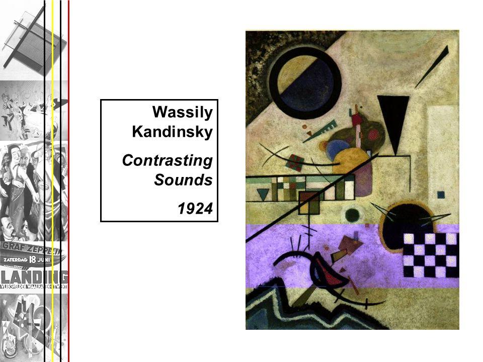Wassily Kandinsky Contrasting Sounds 1924