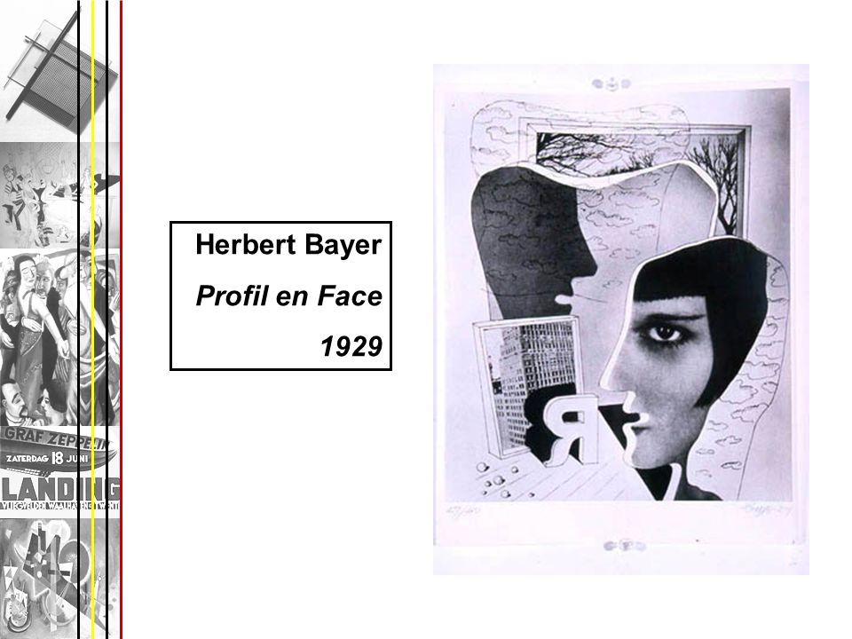 Herbert Bayer Profil en Face 1929