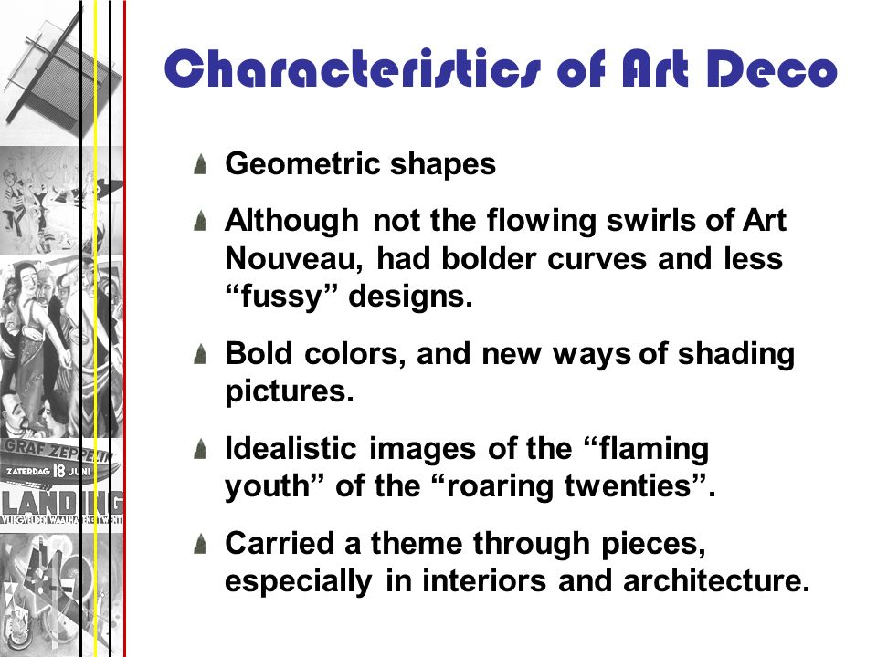 Characteristics of Art Deco
