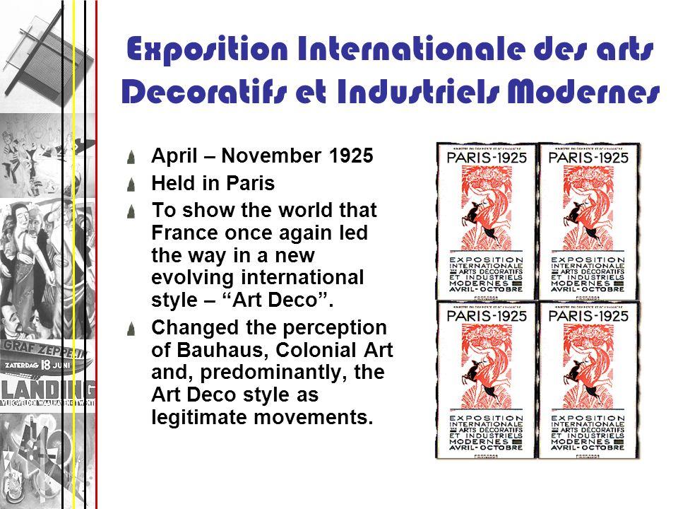 Exposition Internationale des arts Decoratifs et Industriels Modernes
