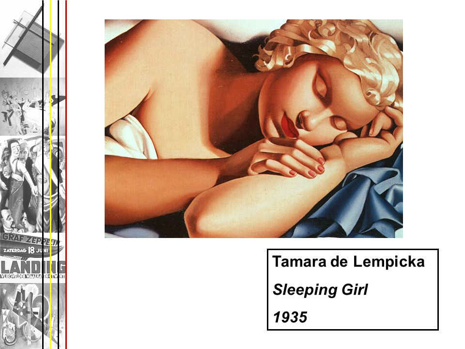 Tamara de Lempicka Sleeping Girl 1935