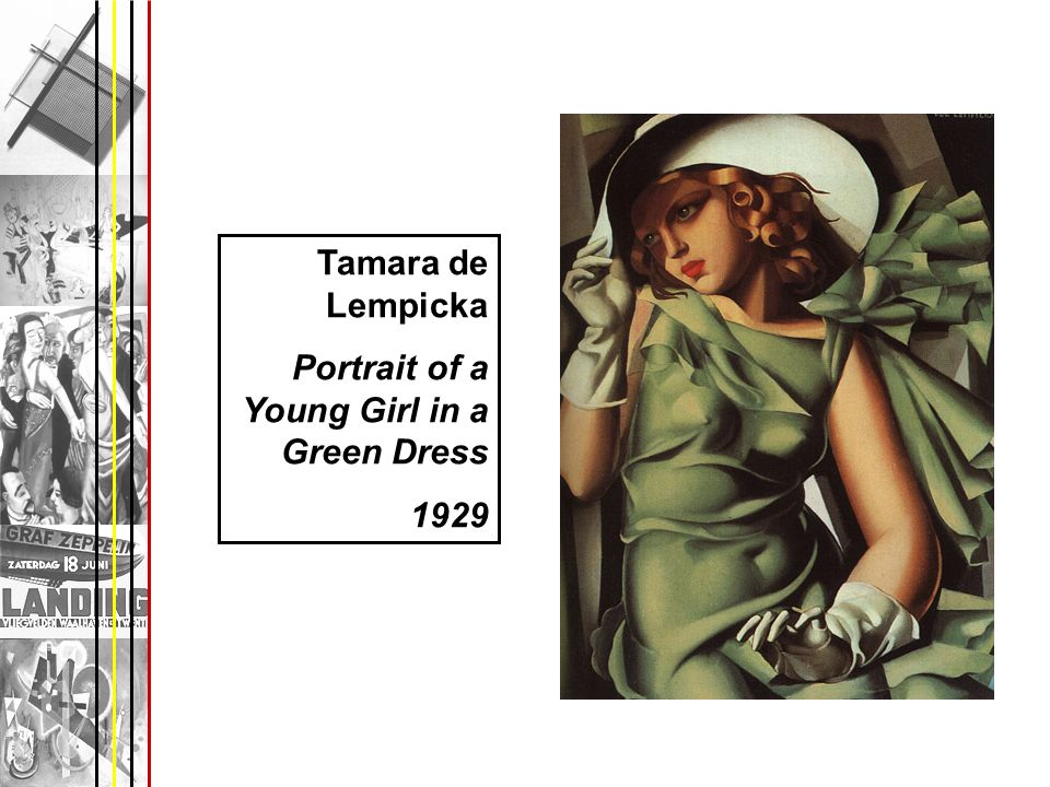 Tamara de Lempicka Portrait of a Young Girl in a Green Dress 1929