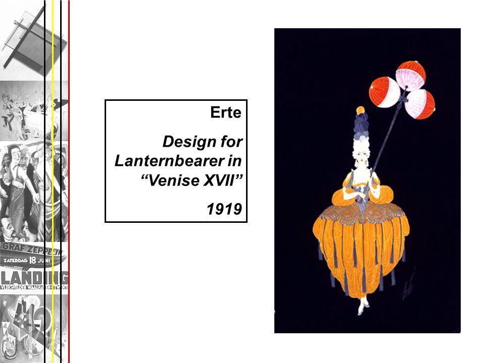 Erte Design for Lanternbearer in Venise XVII 1919