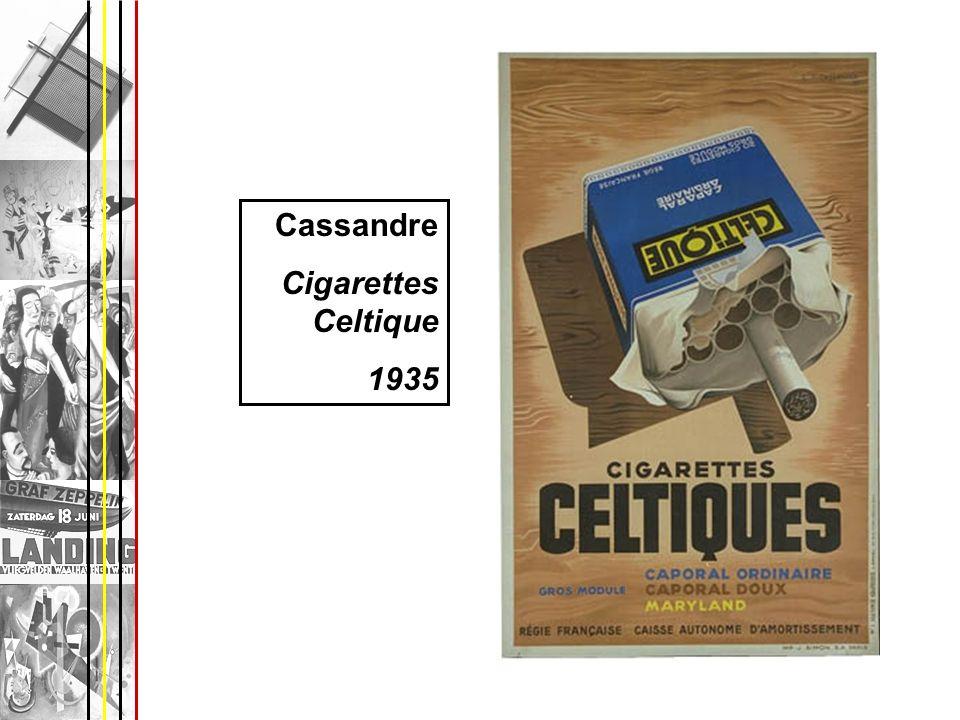 Cassandre Cigarettes Celtique 1935