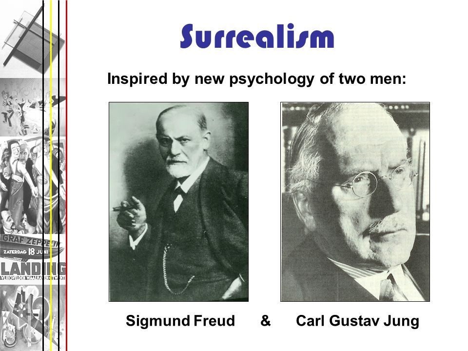 Surrealism Inspired by new psychology of two men:
