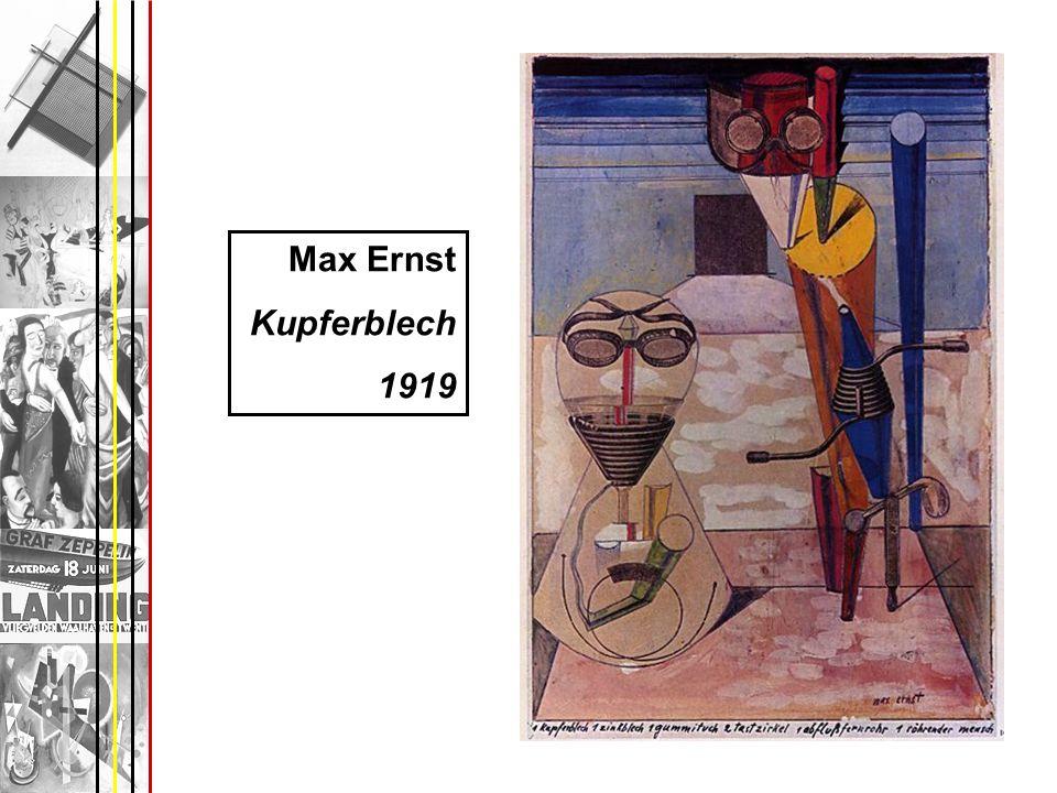 Max Ernst Kupferblech 1919