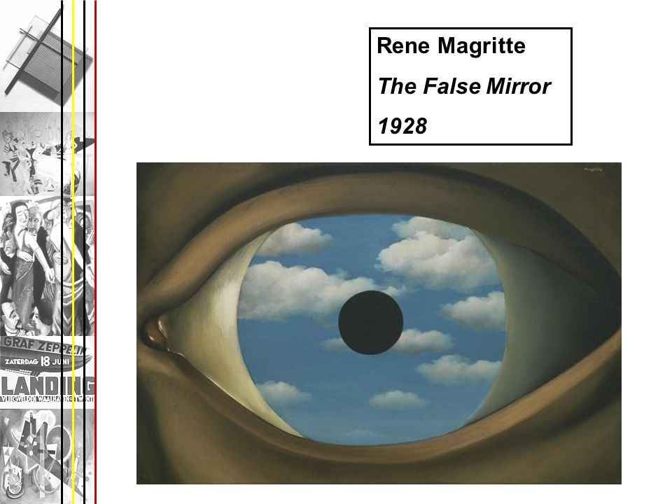Rene Magritte The False Mirror 1928