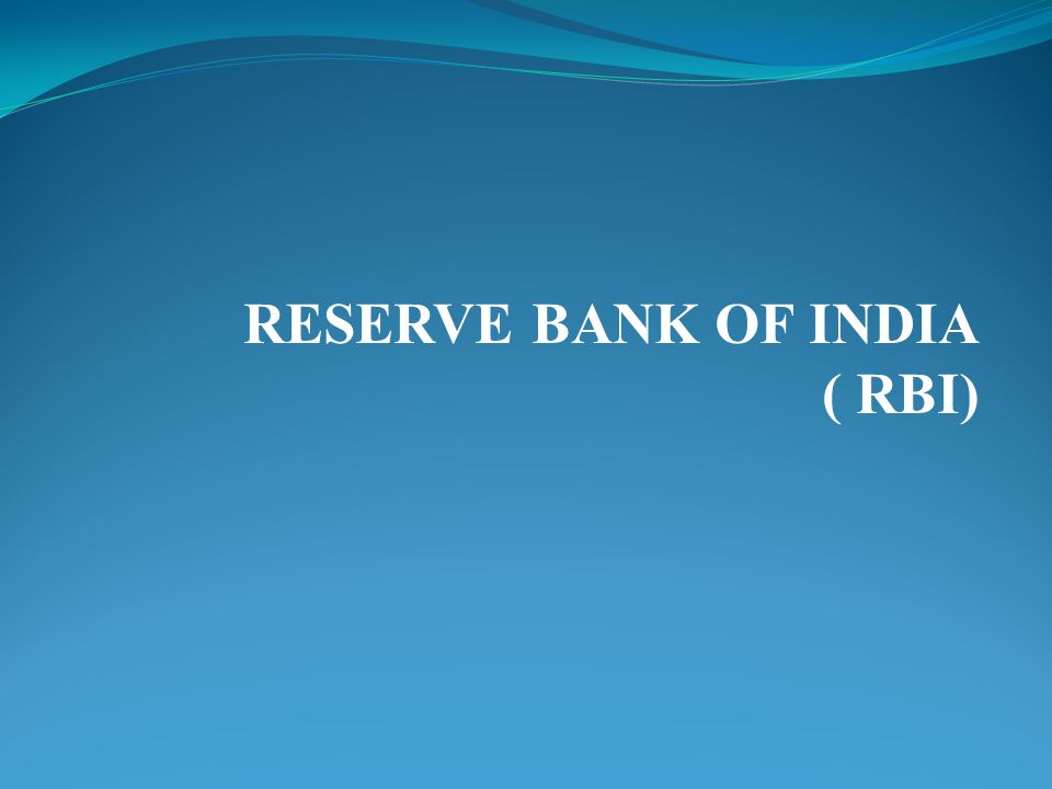 federal reserve india