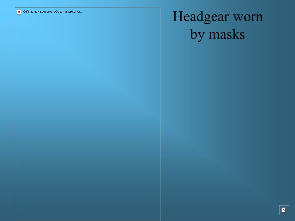Headgear worn by masks