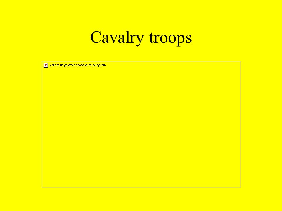 Cavalry troops