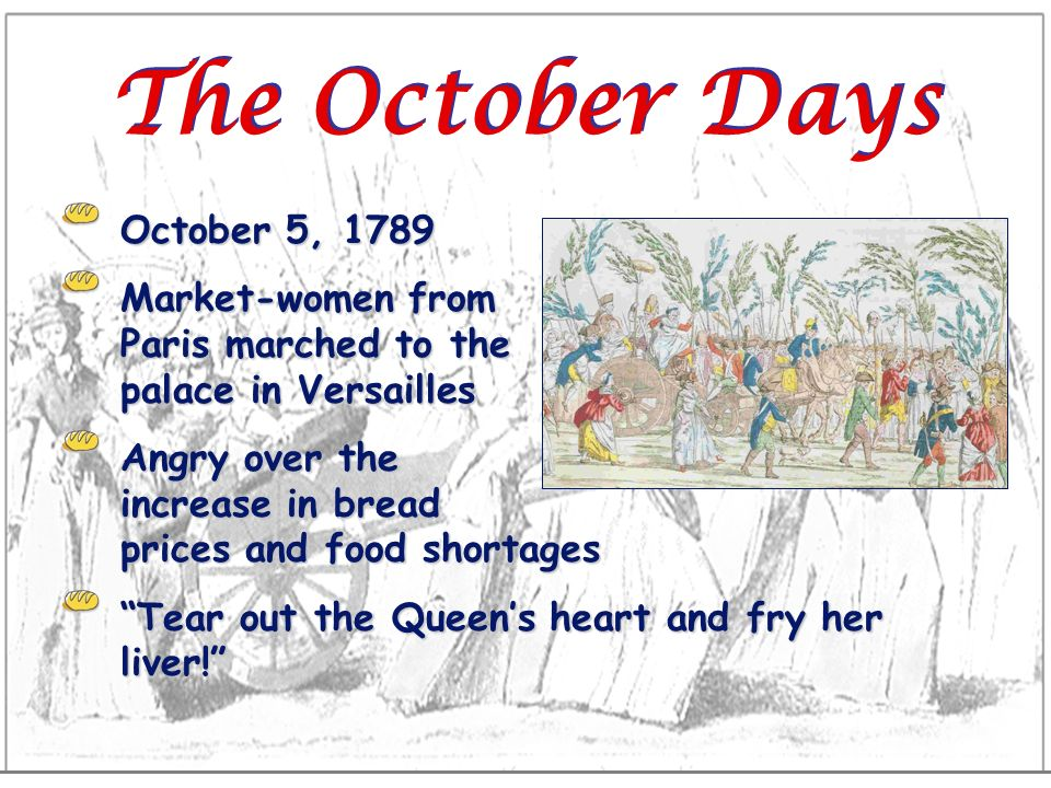 The October Days October 5, 1789