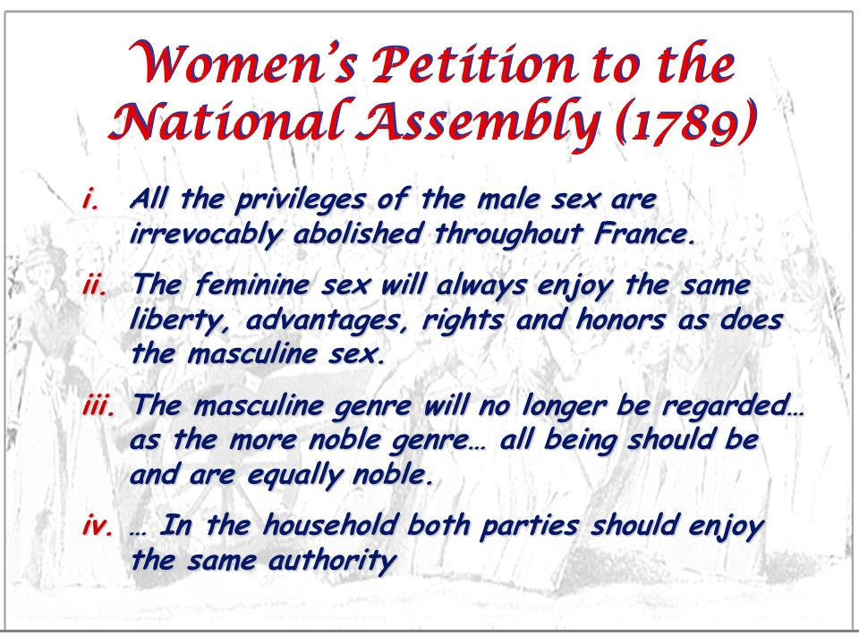 Women's Petition to the National Assembly (1789)