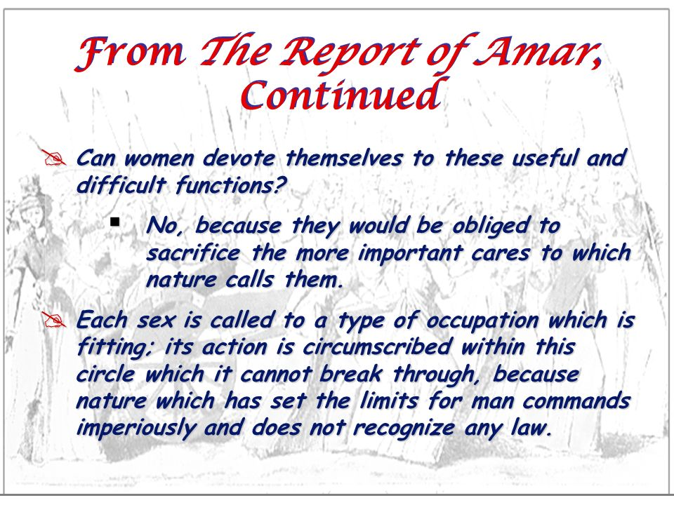 From The Report of Amar, Continued