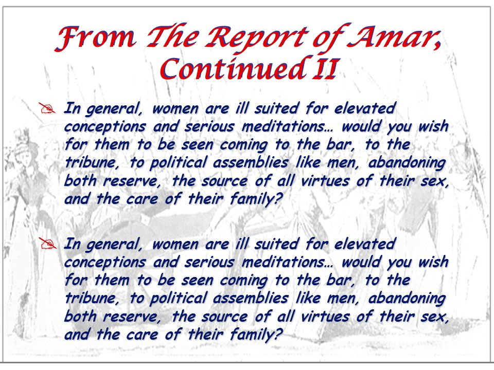 From The Report of Amar, Continued II