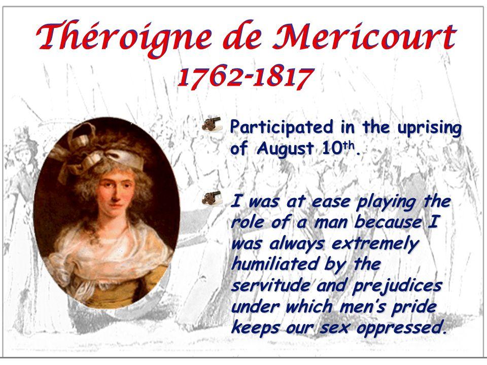 Théroigne de Mericourt 1762-1817